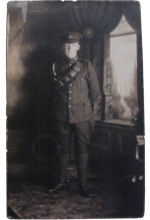 Photo of Albert Lawrence Running.– Private Albert Lawrence Running. 8th Battalion, CEF. Killed in action August 15, 1917 Hill 70. Was survived by his parents Virgilne & James Running, brother Thomas & Margaret. Buried in Loos British Cemetery.