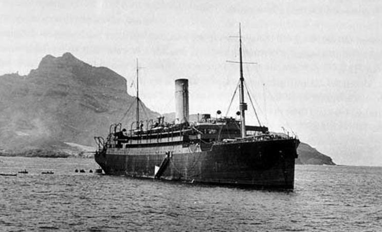 SS Laurentic– SS Laurentic , This is the ship William Sharrocks  on 8th June 1912