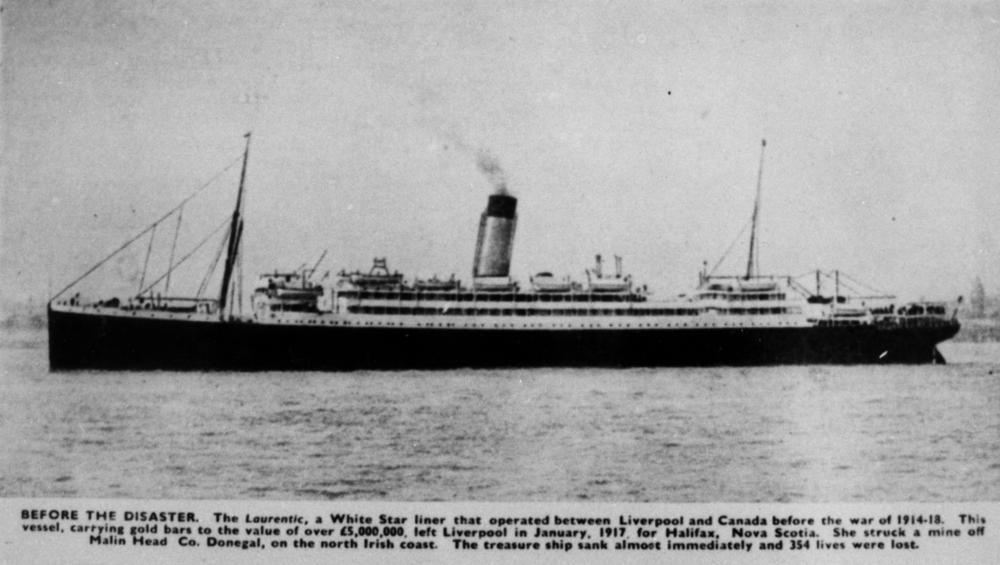 SS Laurentic– SS Laurentic 2  passenger list , This is the ship William Sharrocks  on 8th June 1912 William is passenger number 33392.