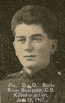 Photo of Donald Burke– From the book, Catholics of the Diocese of Antigonish, Nova Scotia and the Great War 1914- 1919.  Submitted for the project, Operation: PIcture Me
