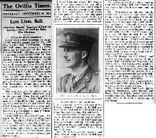 Newspaper clipping– Orillia Times, 19 Sep 1918