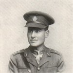Photo of Edward Francis Burgess– Enlisted March 1915, with the 36th Battalion as a private, earning his commission on the battefield. Killed at Cambrai.