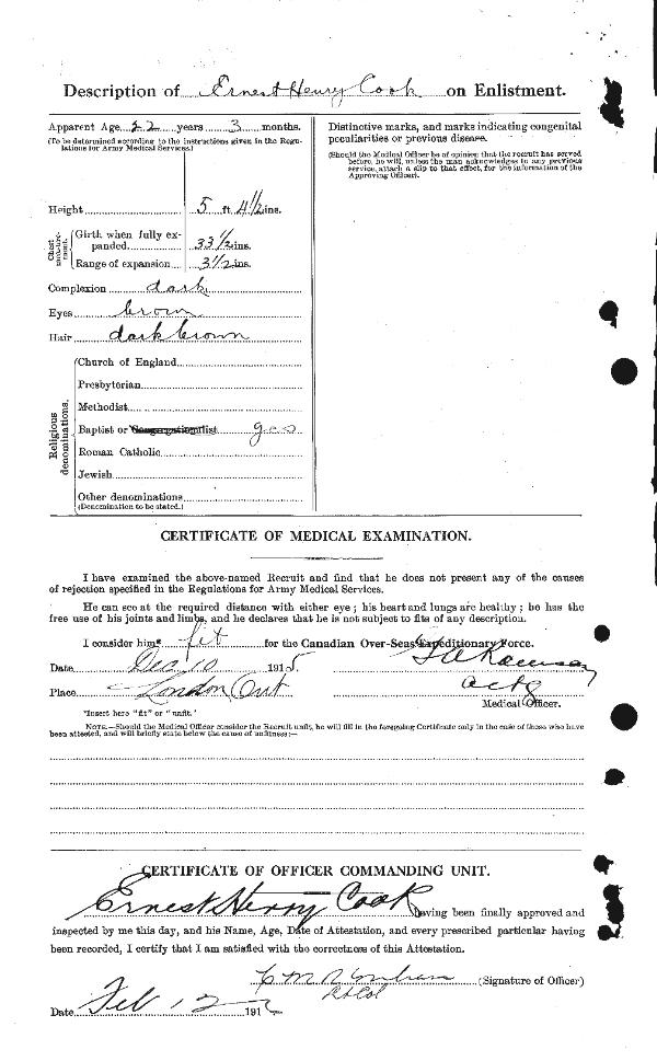 Photo of Attestation Paper (Back)