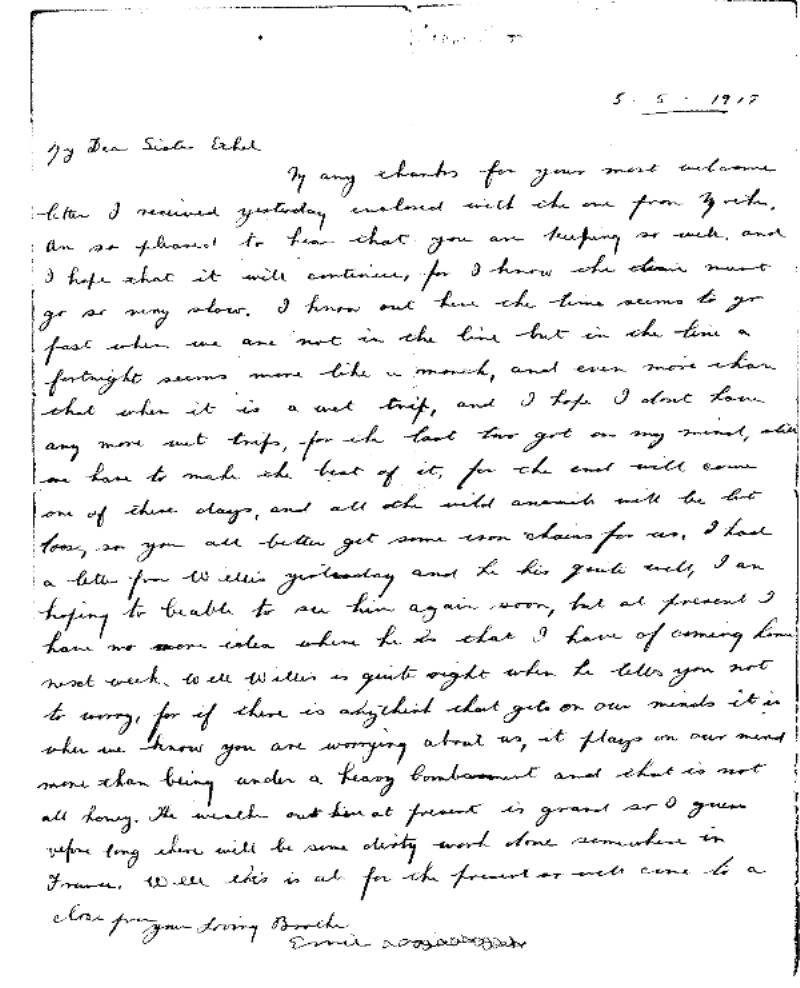Letter from Ernest Henry Cook