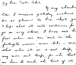 Letter from Ernest Henry Cook– Last Letter from Ernest to his sister Ethel.