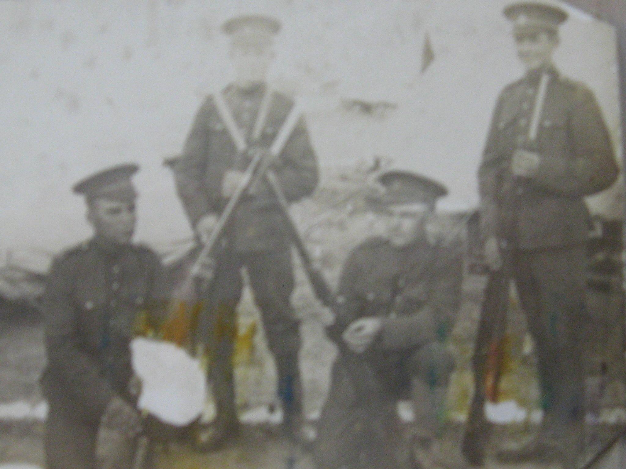 Photo of Edward Thomas Teggin– Edward Thomas Teggin standing on far right.