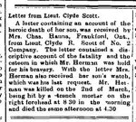 Newspaper Clipping– From the Perth Courier for 9 April 1915, page 1.