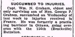 Newspaper Clipping– From the Perth Courier for 31 May 1918.