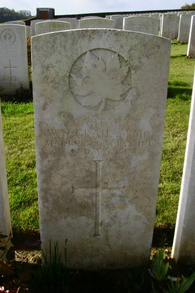 Grave Marker– Grave marker - Bagneux British Cemetery … photo courtesy of Marg Liessens