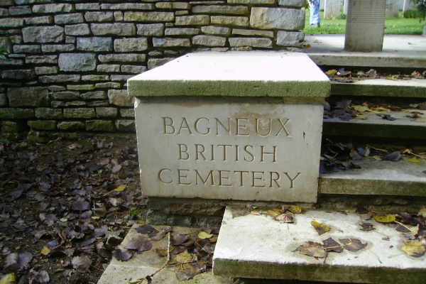 Entrance– Bagneux British Cemetery … photo courtesy of Marg Liessens