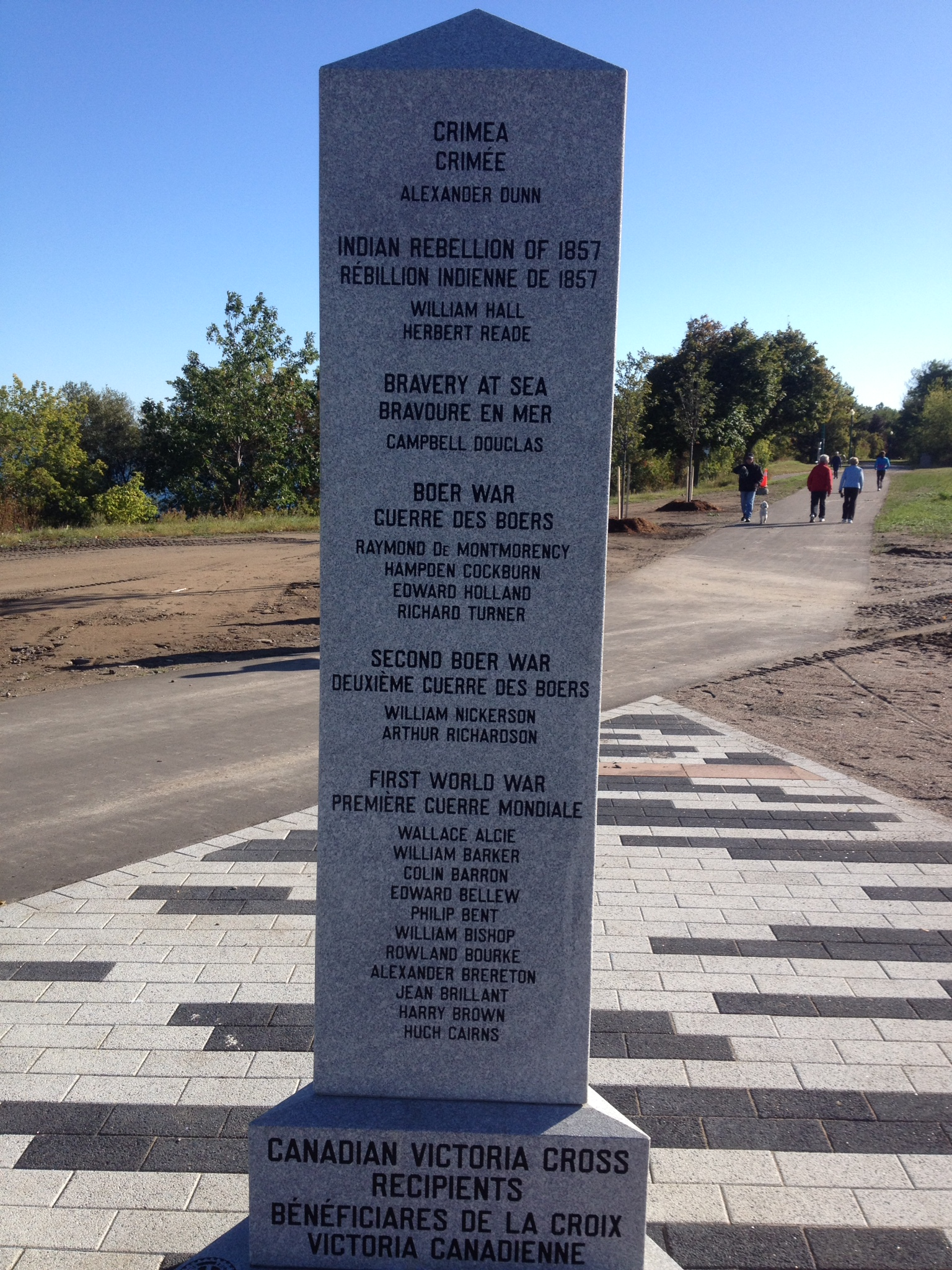 Cenotaph– Barrie Military Park, Canadian Victory Cross Recipients, Cenotaph