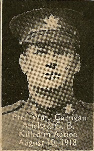 Photo of William Carrigan– From the book, Catholics of the Diocese of Antigonish, Nova Scotia and the Great War 1914- 1919.  Submitted for the project, Operation: PIcture Me