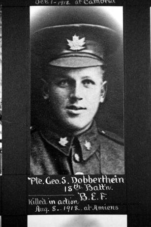 Photo of GEORGE STEWART DOBBERTHIEN– PART I (A-L): Elora and District Servicemen, 1914-1918.