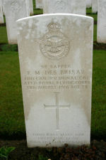 Grave Marker– Photo courtesy Wilf Schofield, England