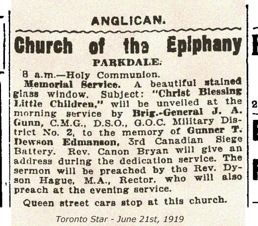 Newspaper clipping– 1921 Newspaper clipping