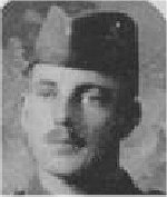 """Photo of Albert Kitching– Photo taken from """"A Short History and Photographic Record of the 73rd Battalion, Canadian Expeditionary Force, Royal Highlanders of Canada""""  Page 22.  B Company.  No. 6  Platoon."""