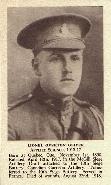 Photo of Lionel Overton Oliver