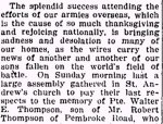 Newspaper Clipping– From page 8 of the Renfrew Mercury for 6 September 1918.