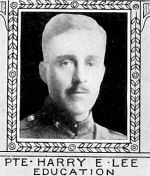 Photo of Harry Lee– From: The Varsity Magazine Supplement Fourth Edition 1918