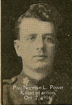 Photo of Norman Power– From the book, Catholics of the Diocese of Antigonish, Nova Scotia and the Great War 1914- 1919.