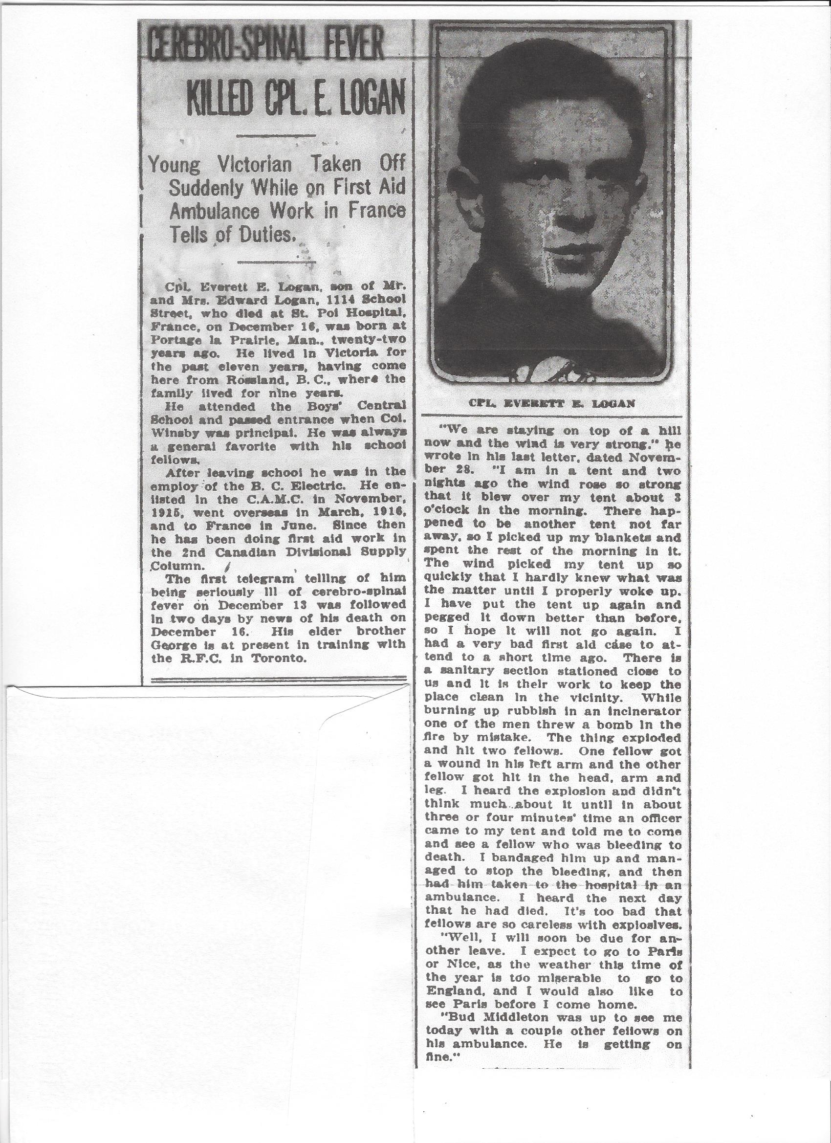 Newspaper clipping– From the Daily Colonist of December 30, 1917. Image taken from web address of http://archive.org/stream/dailycolonist59y331uvic#page/n0/mode/1up