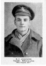 Photo of Bernard Stuart Anderson– Photo from Canadian Bank of Commerce Letters From the Front