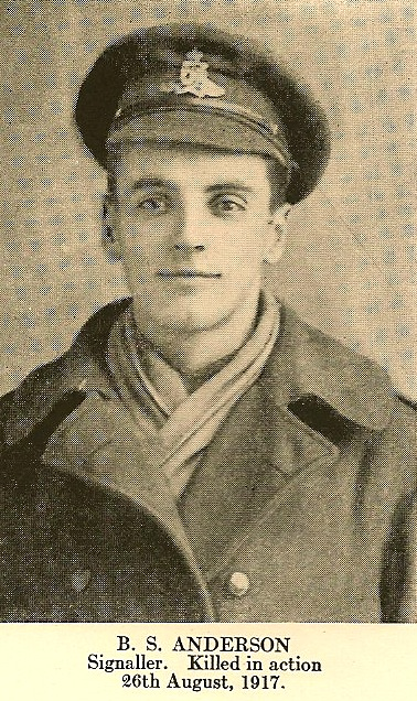 Photo of Bernard Stuart Anderson– In memory of the employees from the Canadian Bank Of Commerce (CIBC) who went to war and did not return. Submitted for the project, Operation: Picture Me