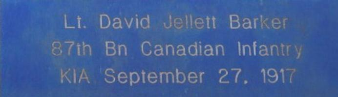 Memorial– Juno Beach Memorial Brick purchased in memory of David Jellett Barker
