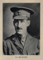 Photo of David Jellett Barker– From Memorial from the Great War 1914-1918: a record of service published by the Bank of Montreal 1921.