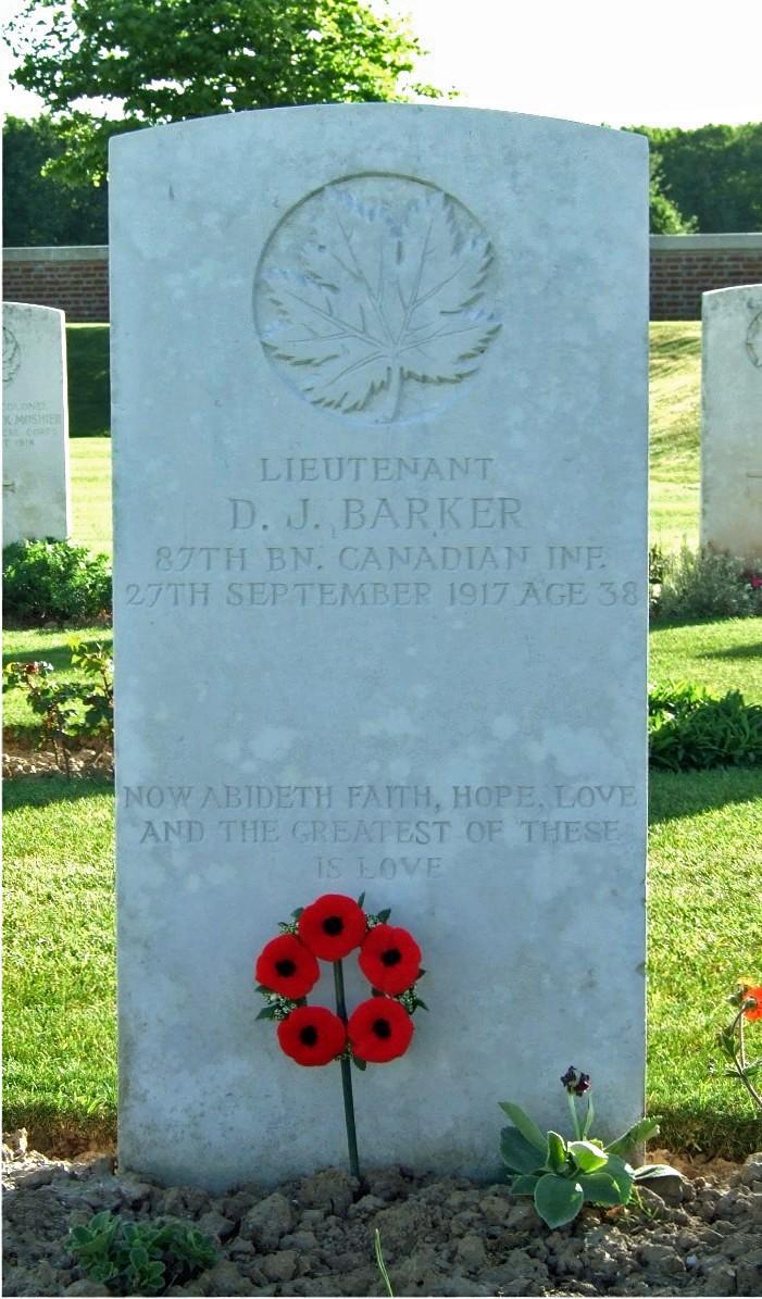 Grave Marker– Grave of David Jellett Barker