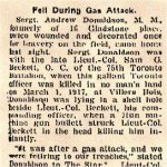Newspaper Clipping– Article includes the story of the death of Lieutenant Colonel Samuel G. Beckett.