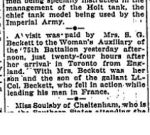 Newspaper Clipping– TORONTO GLOBE online archive