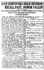 Newspaper Clipping– The 75th Battalion is perpetuated since World War One in the Toronto Scottish Regiment.