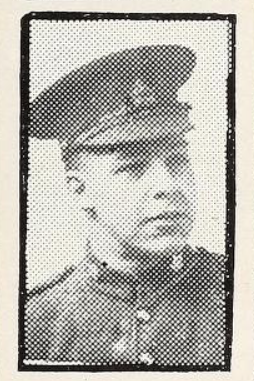 Photo of GEORGE SIDNEY ROWE– Photo from the National Memorial Album of Canadian Heroes c.1919. Submitted for the project, Operation: Picture Me.