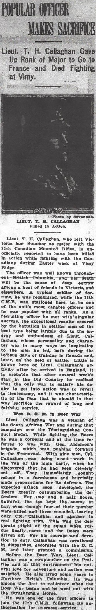 Newspaper clipping– From the Daily Colonist of May 12, 1917. Image taken from web address of http://archive.org/stream/dailycolonist59y132uvic#page/n0/mode/1up