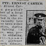 Press Clipping– source: Morning Bulletin (Edmonton); 5 may 1917, page 3