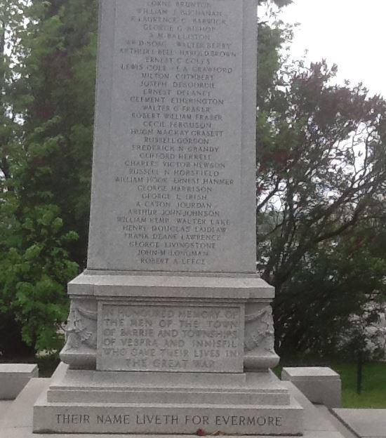 Memorial– Barrie Cenotaph