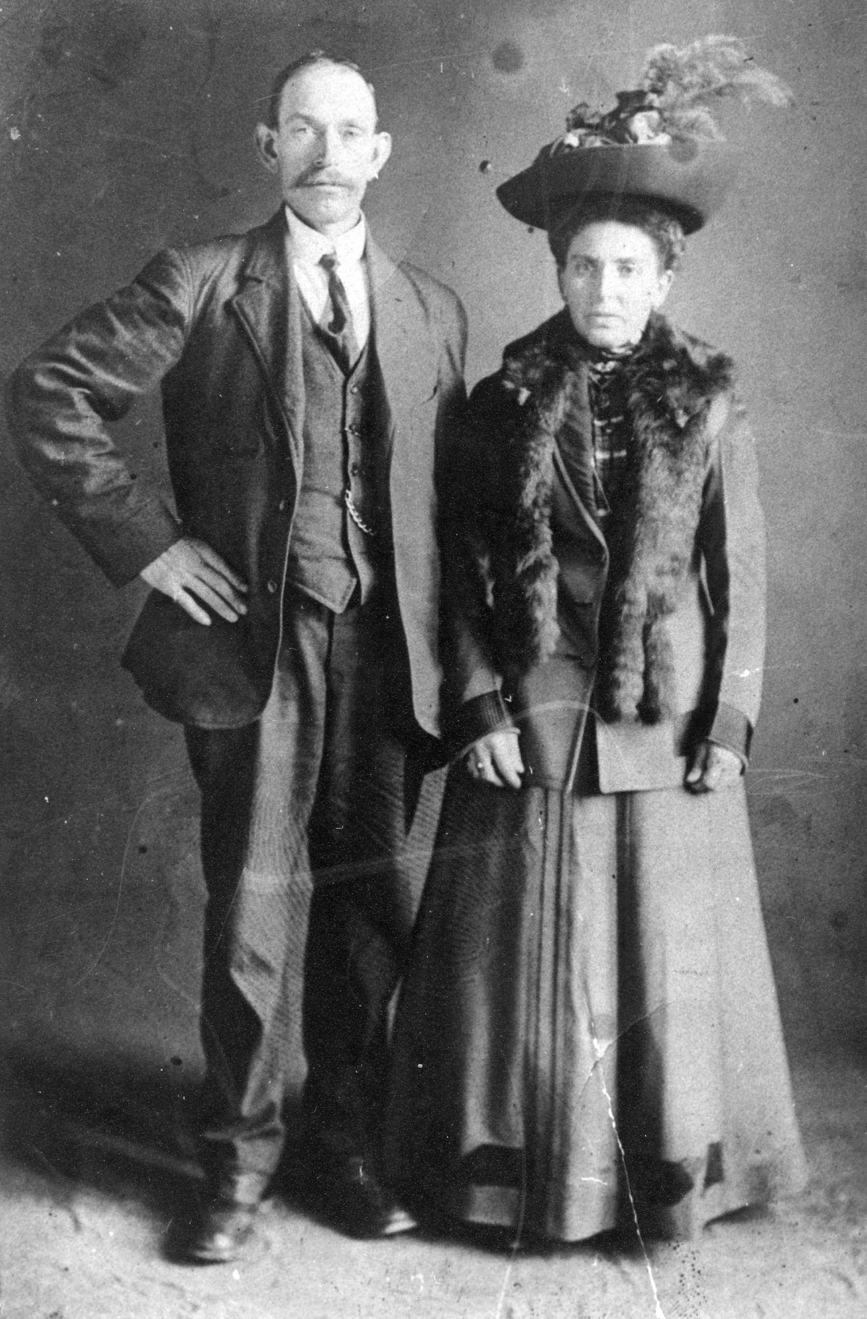 Family Photo– Here is a photo of Antonio's parents. The names are listed under the photo.