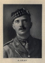 Photo of Allan Gray– From Memorial from the Great War 1914-1918: a record of service published by the Bank of Montreal 1921.