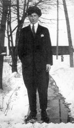 Photo of Henry Fountain– Henry Fountain- standing in his driveway on Elgin Street, Orillia, Ont.