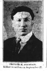Newspaper Clipping– photo from the Orillia Times, Oct. 31, 1918.