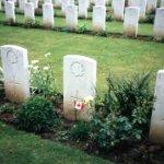 Grave marker– Grave marker with flag.