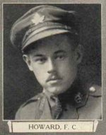 Photo of Francis Carl Howard– From The War Book of Upper Canada College, edited by Archibald Hope Young, Toronto, 1923.  This book is a Roll of Honour including former students who served during the First World War.