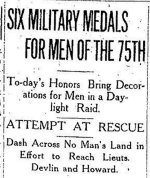 Newspaper Clipping (1 of 2)– First part of a clipping from the Toronto Daily Star for 23 October 1916, page 1.