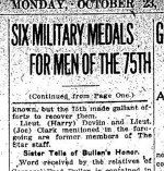 Newspaper Clipping (2 of 2)– Second part of a clipping from the Toronto Daily Star for 23 October 1916, page 4.