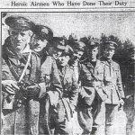 Newspaper Clipping– Flight Lieutenant John Albert Page is on the very far right in this photograph.