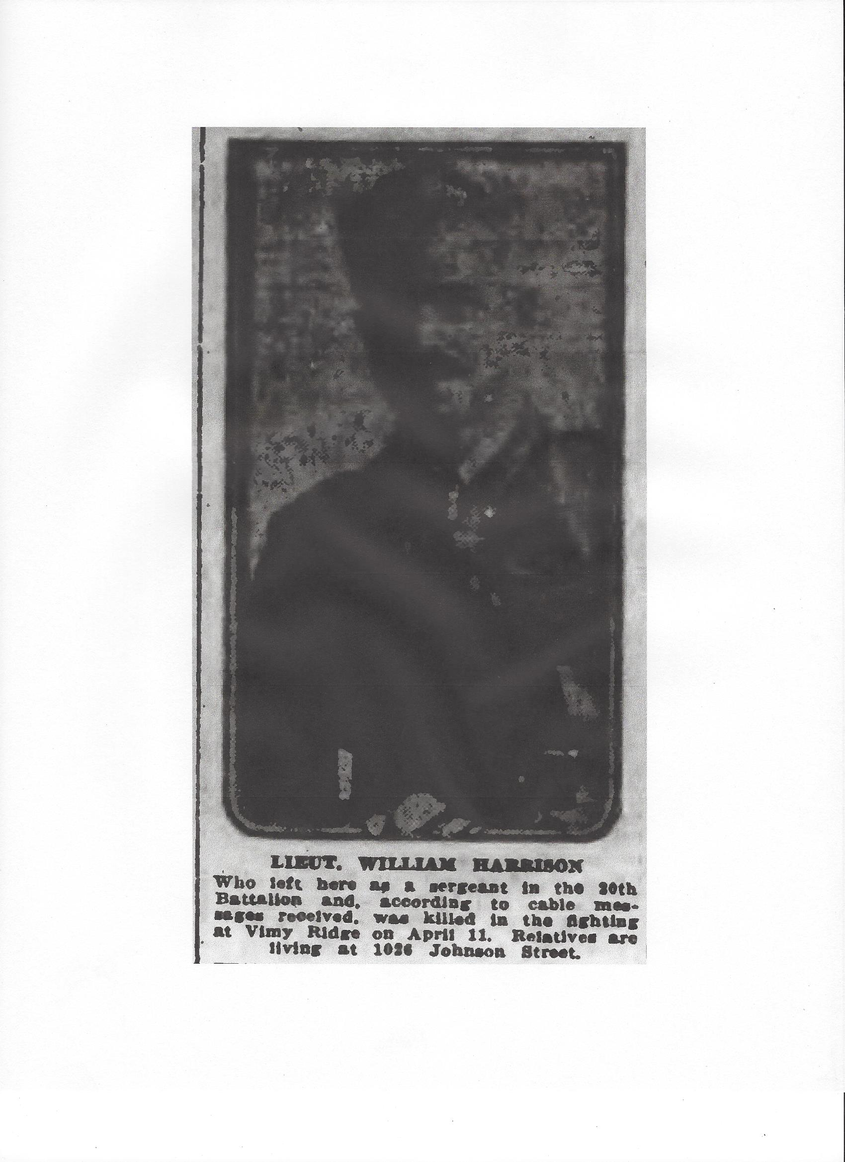 Newspaper Clipping– From the Daily Colonist of April 22, 1917. Image taken from web address of http://archive.org/stream/dailycolonist59y115uvic#page/n0/mode/1up