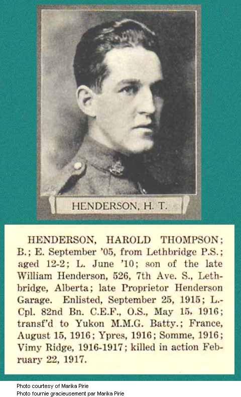 Photo of Harold Thompson Henderson