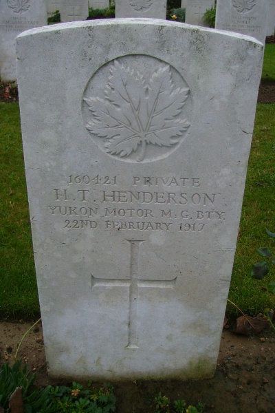 Grave Marker– Grave marker - Villers Station Cemetery … photo courtesy of Marg Liessens