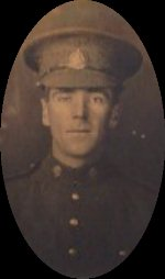 Photo of W. Spencer Hollowell– W. Spencer Hollowell before going overseas, about 1916.  The picture was sent to his sister Grace Elizabeth (Hollowell) Calder by Spencer.